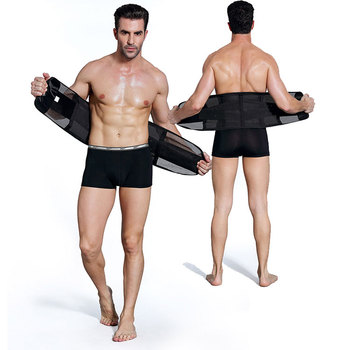 318f4981c Breathable Tight Black Abdominal Binder Waist Belt Men s Belly Slim Body  Shaper