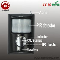 Security Wireless GSM SMS Alarm System with Mini PIR Detection SD Card DVR Camera