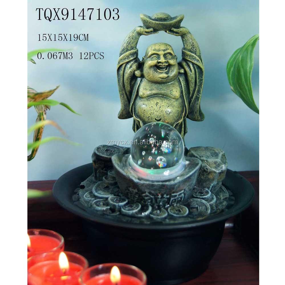 Mini Indoor Fountains Laughing Buddha Water Fountain Cheap - Buy ...