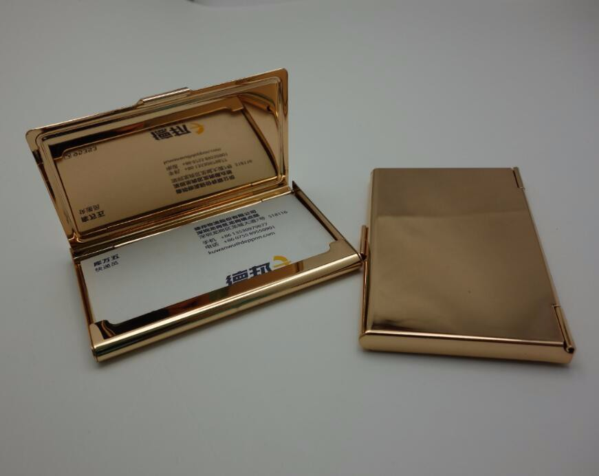 Stainless Steel Blank Rose Gold Plated Business Card Case For Epoxy ...