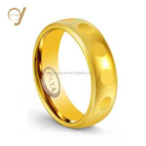 18K Rose Gold filled 6MM faceted Tungsten carbide ring jewel designs for girls
