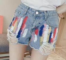 z81673B Women Shorts Jeans,Sexy Girls Jean Shorts, ladies ripped denim shorts jeans