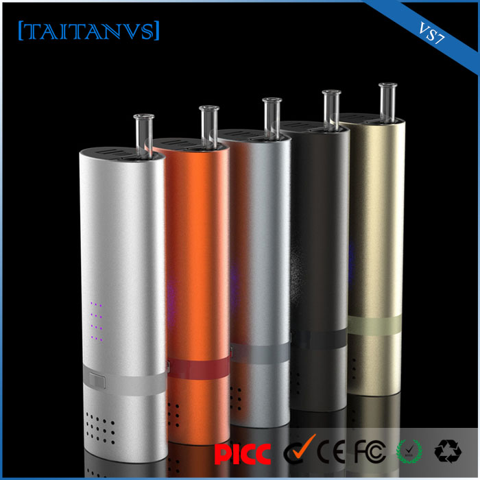 VS7 anti-reverse function glass inhaler replaceable 18650 herbal vaporizer dry herb