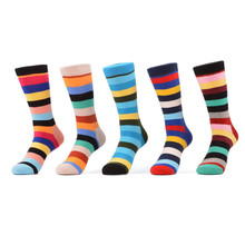 Fashion happy style custom candy color mens dress socks