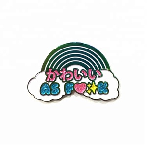 Rainbow Cloud Cartoon Blinking Custom Enamel Pin Badges Pins Lapel