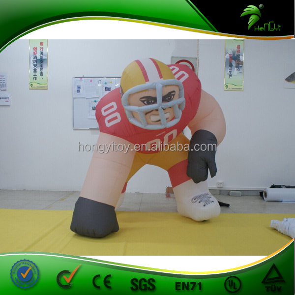 High Quality Red Jersey Football Player Shape Inflatable For Advertising/Display /Inflatable Cartoon From Hongyi For Sale
