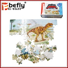 Custom photo 60/70pcs dinosaur paper jigsaw puzzle for kids play toy