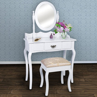 Factory Direct Wholesale Cheap 2016 Lady's Makeup Vanity Dressing Table White