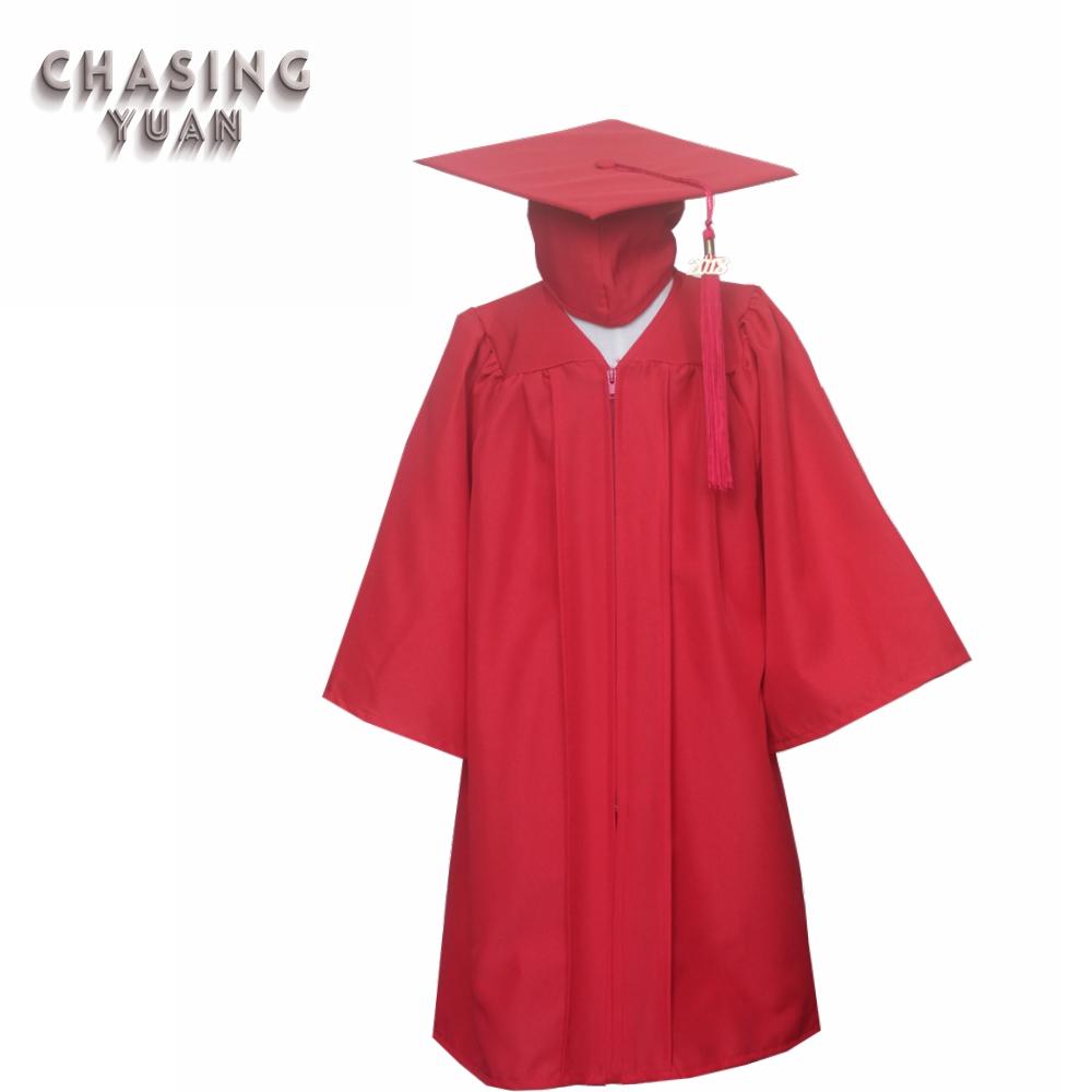 Matte Red Cap Gown In Child - Buy Kindergarten Graduation Tam Gown ...