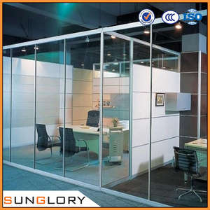 Tempered Glass Mirror / Glass Office Dividers