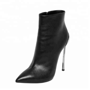 2018 autumn steels high heels 12cm stilettos shoes for woman ladies shoes female ankle boots