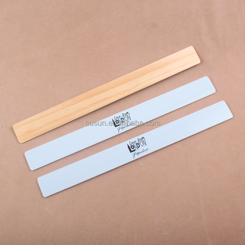 Multi-colored Printed Wood Ruler Wooden Ruler Parallel Ruler