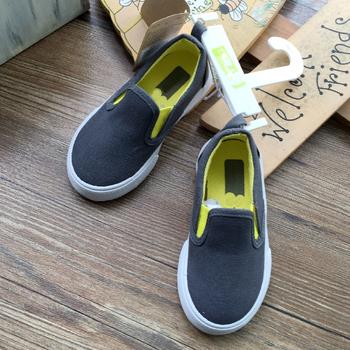 Grey Color Little Kids Casual Shoes