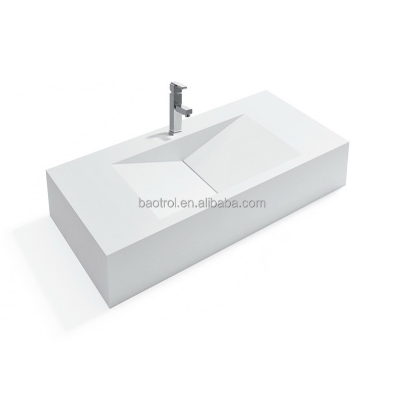 man made stone hotel restroom wash basin solid surface shower room sink