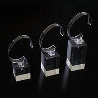 Clear watch display stand display holder price cube