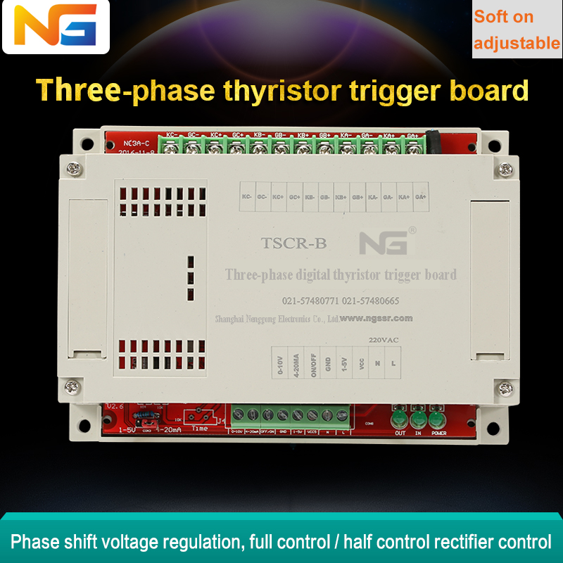 Three-phase scr phase shift <strong>ARM</strong> chip trigger board thyristor controller for industrial motor soft start