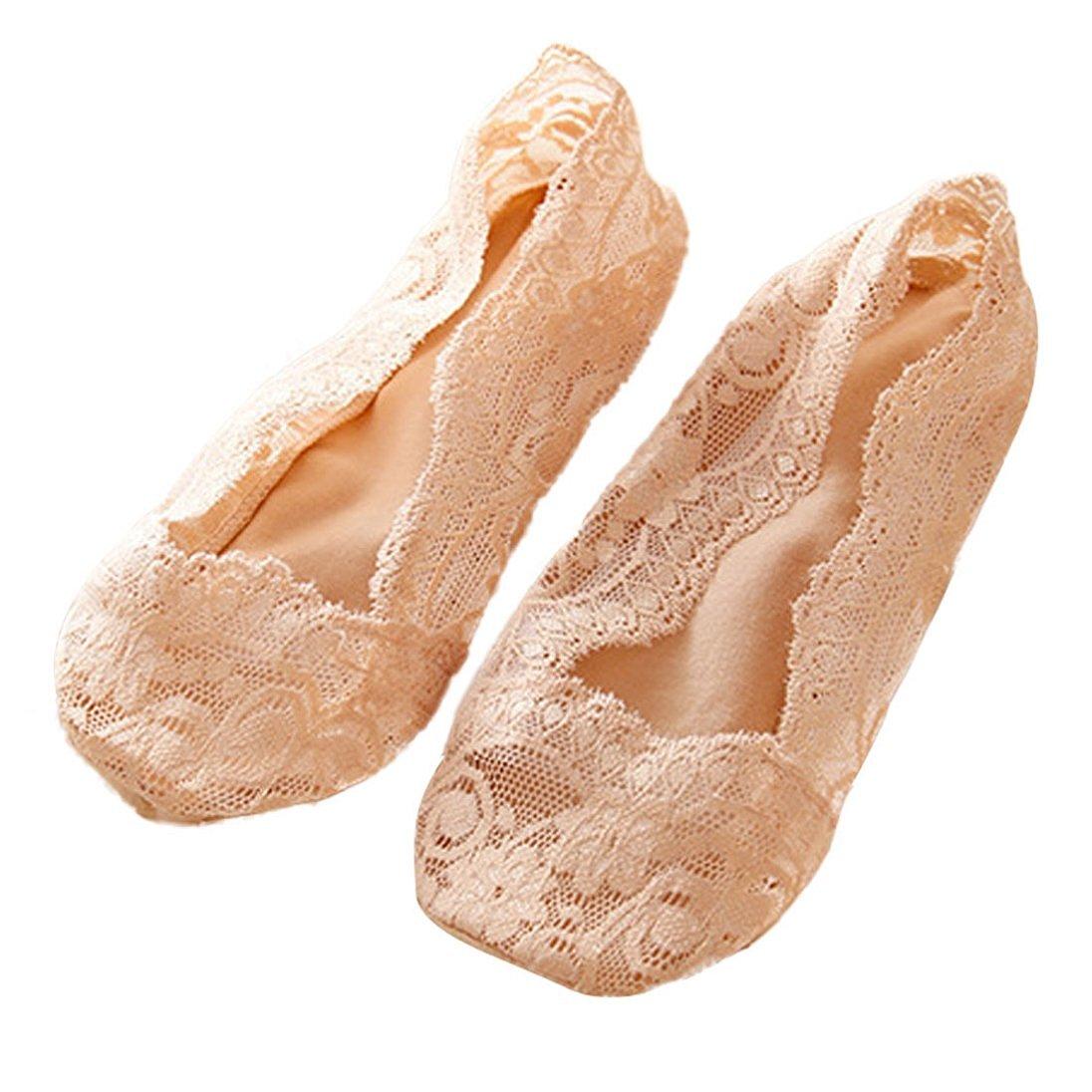 No Show Socks, AutumnFall(TM) 1 Pair Fashion Ladies Women Lace Antislip Socks, Ankle Socks, No Show Socks, Lace Link