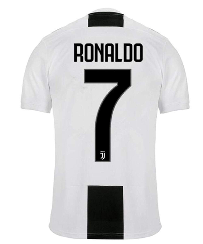0a877d46c99 Get Quotations · Men s Juventus Ronaldo Jerseys   7 Soccer Jersey 2018 2019  Home Men s Jersey Black