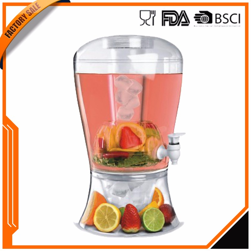 food grade bpa free Acrylic Carbonated beverage dispenser with high quality