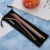 Set of 4 pcs  Amazon hot sale Stainless steel straw colorful straw set