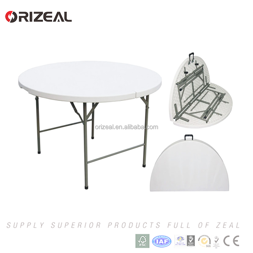 5ft Plastic Round Fold In Half Table Lifetime Round Banquet Tables
