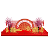 OEM Red Lantern Theme Chinese New Year Mall Decoration