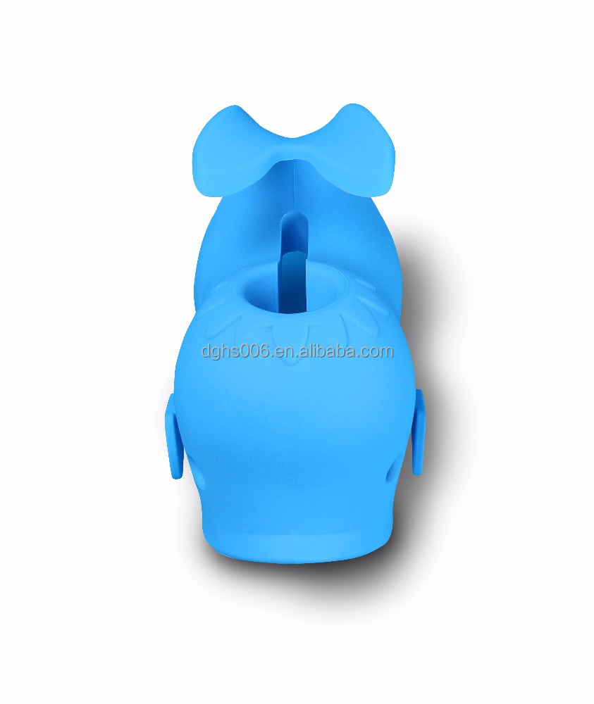 Soft silicone bath spout cover , whale animal shape bathtub cover