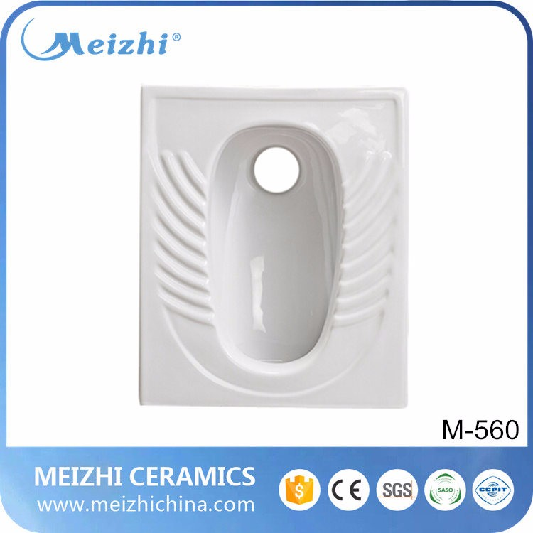 Bathroom Ceramic front/back outlet squatting pan wc