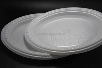 2016 7/9/10 inch OEM white wholesale bulk disposable Plastic Plate & 2016 7/9/10 Inch Oem White Wholesale Bulk Disposable Plastic Plate ...
