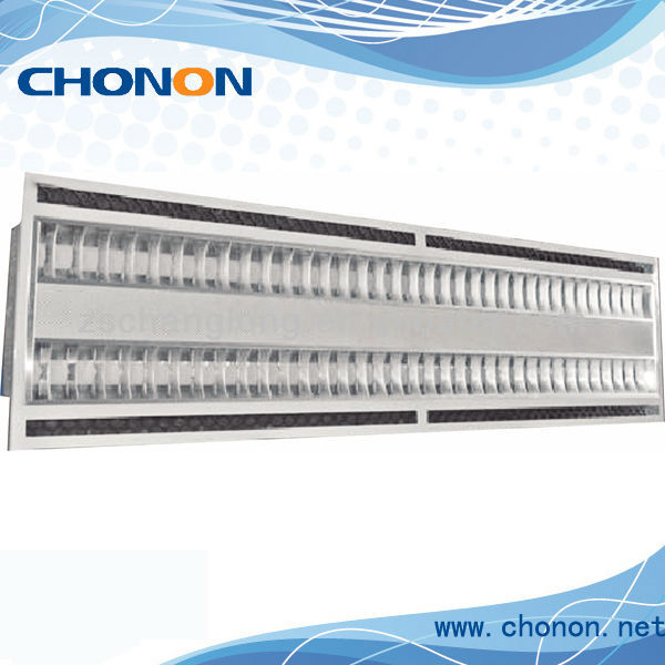 54w T5 recessed Fluorescent fixture With Air Slot with 1195*595*60mm