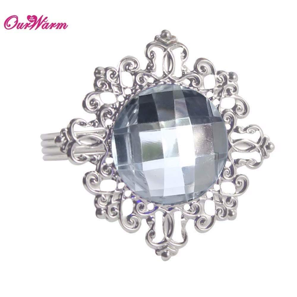 afe9449ffffd5e Table Wedding Xiangfuju Napkins 12pcs Table Napkin Rings Luxury Bling  Diamond Serviette Holder for Wedding Party