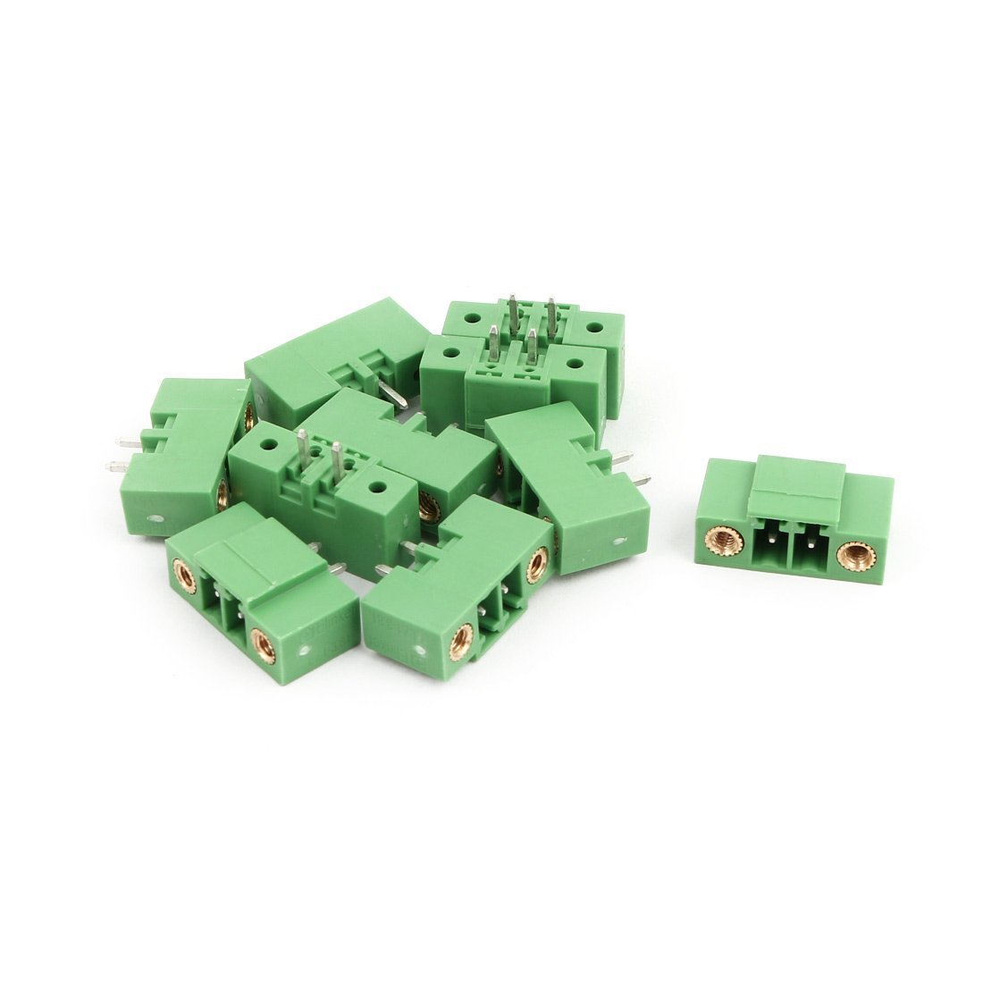 uxcell 10Pcs AC 300V 8A 3.81mm Pitch 2P Terminals Block Wire Connection for PCB Mounting