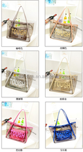 2015 summer new waterproof Transparent bags package beach jelly crystal bag one shoulder female summer bags for women in beach