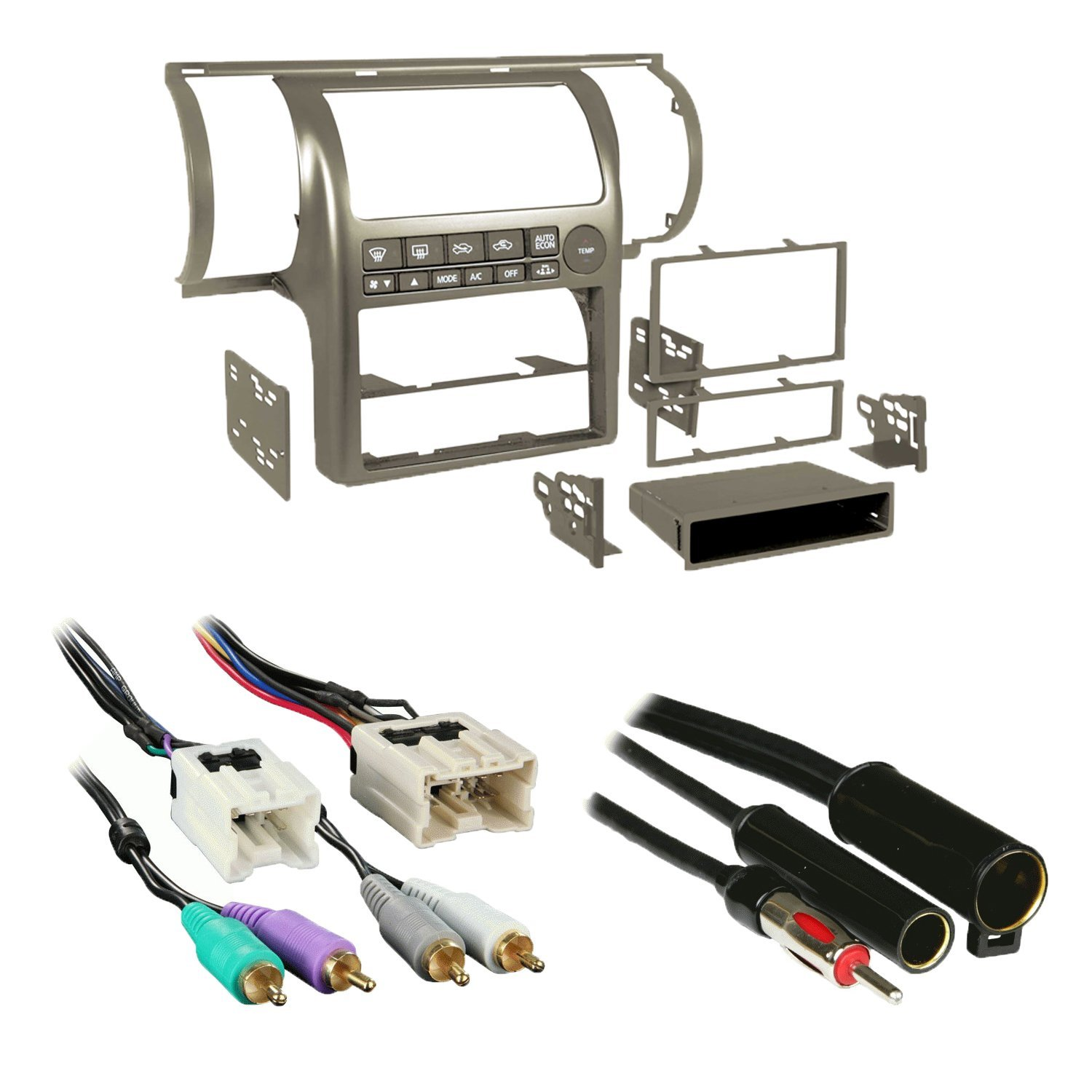 Get Quotations · Metra 99-7604T Tan Single/Double DIN Stereo Installation  Dash Kit for 2003-