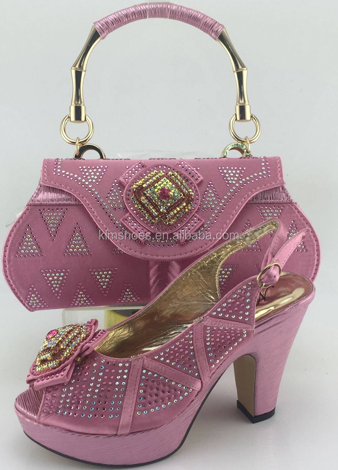 Factory Pink With Sale Shoes And Shoes Bags Fashion Stones ME3317 Bags To Party Match Women Sexy And African Matching Italian wBwArfExq