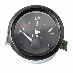 uxcell 12V Black Blue Car Fuel Level Meter Gauge With Fuel Sensor Sender Pointer