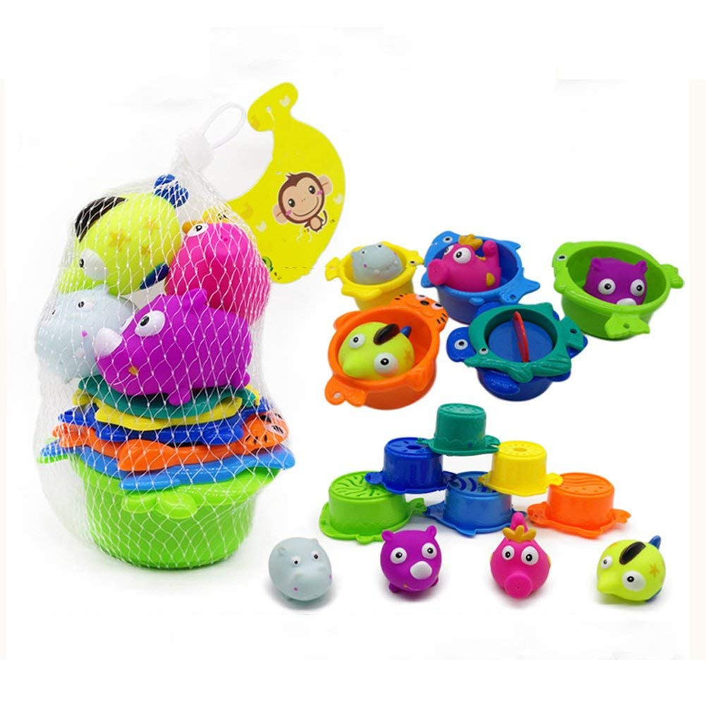B toys by Battat-Bazillion Buckets Nesting Cups-10 Colorful Stacking Cups fo...