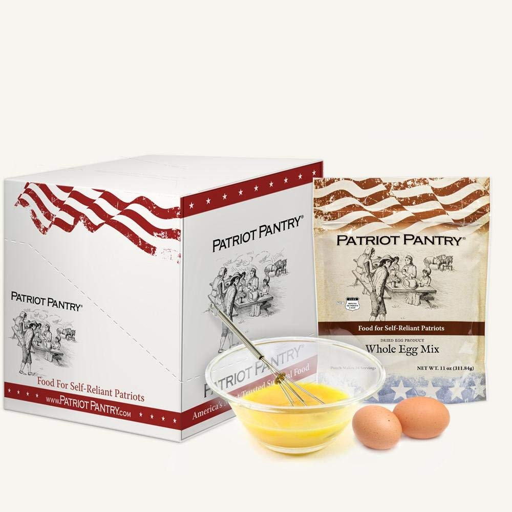 Patriot Pantry Whole Eggs Case Pack (144 servings, 6 pk.) Bulk Emergency Food in Convenient Case Packs, Up to 10-Year Shelf Life