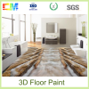 New art house paint desigh decorative 3D epoxy concrete floor coating