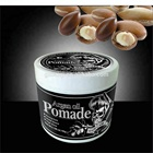 High shine bio care pomade strong hold blue color hair gel jar water based pomade