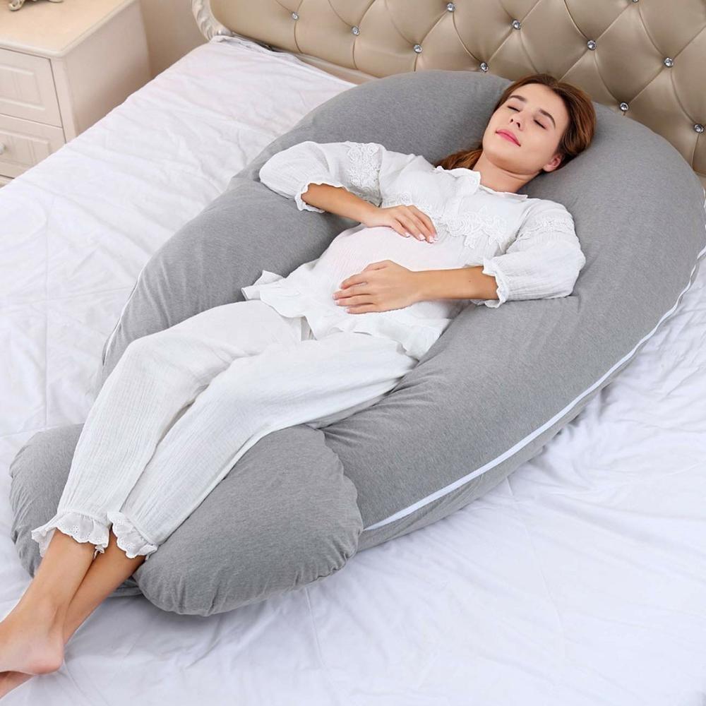 Full Body หมอน U รูปหมอนการตั้งครรภ์สำหรับคลอดบุตรสนับสนุนกลับหมอน
