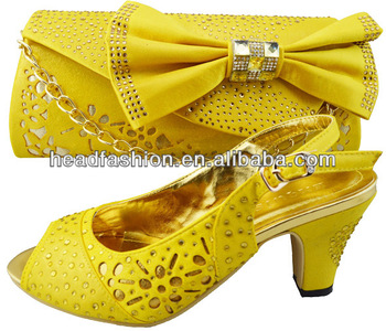 00cbc9f6b6ac10 3inch heel 8cm Source · Yellow Shoes Matching Bag For Party Wedding Buy Shoes  Matching