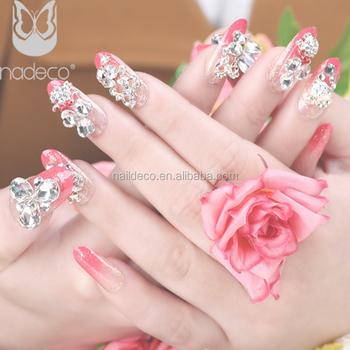 Nadeco Wedding Bridal 3d Artificial Nail Jewelry Glitter Powder