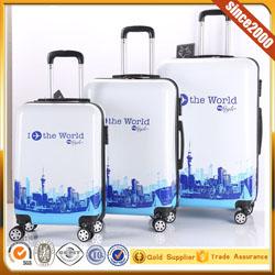 Nuevo diseño púrpura SPINNER 4 ruedas trolley de viaje equipaje y bolsas