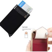 Wholesale Automatic Pop-Up Aluminum Slim Wallet Card Holder with lycra wallet