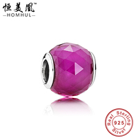 925 Sterling Silver faceted bicone austrian crystal bead
