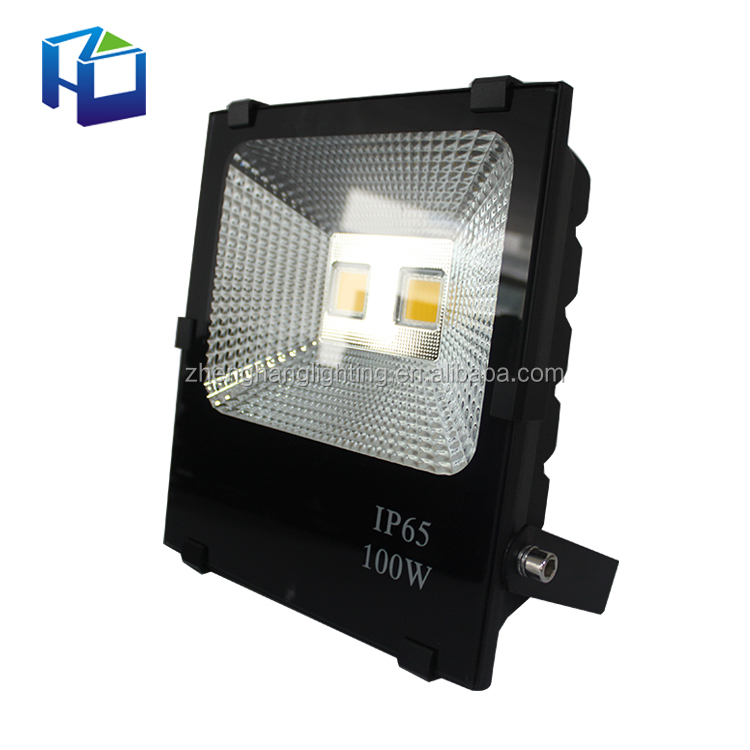 Professional Ip65 Outdoor Floodlight Rgb Color Changing Slim Cob Smd 100 Watt Led Flood Light 150W