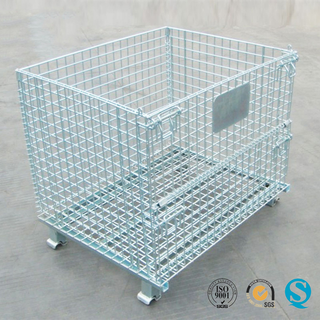 fold metal storage cage wire container-Source quality fold metal ...