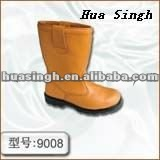 orange men and women 100 % genuine leather safety rigger working boots