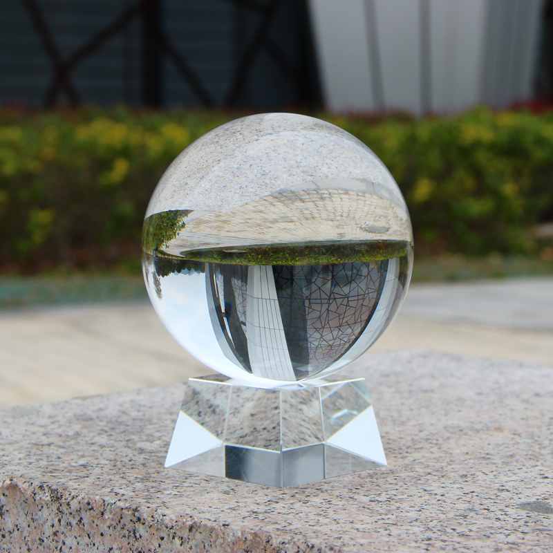 Hot sale K9 crystal glass round ball Map Glass Crystal globe 40mm 60mm 80mm 100mm 200mm 300mm for Photography